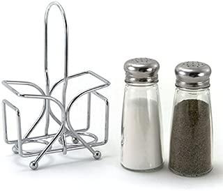 Salt and Pepper Shaker Set with Rack