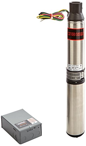 """Red Lion 14942409 RL22G10-3W2V Submersible Deep Well Pump with Control Box, 26.75""""H, Gray"""