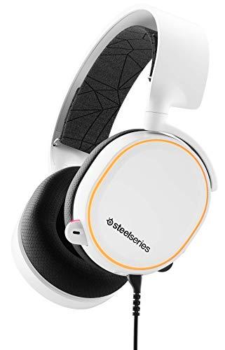 SteelSeries Arctis 5 - Casque de Jeu à Éclairage RVB - Son Surround DTS Headphone:X v2.0 pour PC et PlayStation 4 - Blanc