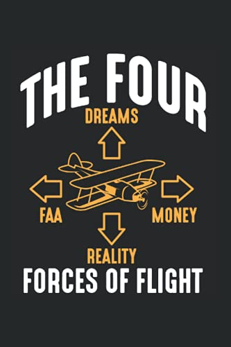 Calendar 2022: Aviation Fan Funny Pilot Four Forces of Flight Appointment Monthly Calendar 6x9 Inches Organizer with 120 pages | Notebook Weekly Yearly Planner