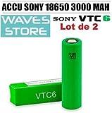 Batteria Sony VTC6 18650 3000 mAh (confezione da 2) Waves Store