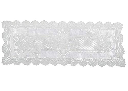 Doily Placemat Table Runner 14'x36' Oblong Macrame Vintage Design in Pale Cream Free P & P