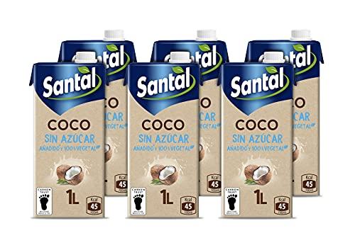 Santal Bebida Vegetal Coco, Sin Azúcar Añadido, 6 x 1L