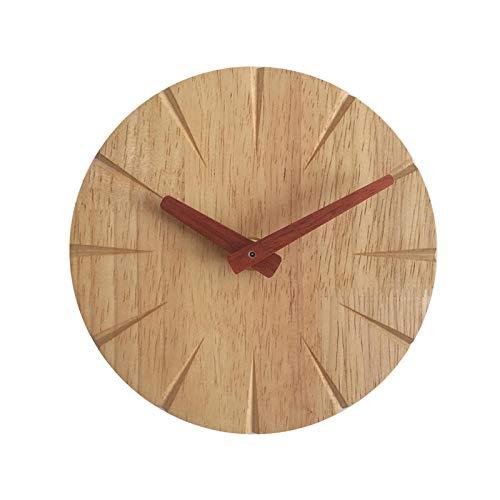KIrSv Wanduhr aus Holz, 15 cm, kreative Wanduhr aus Massivholz, Wohnzimmer Persönlichkeit, einfache Moderne Uhr, DIY, Schlafzimmer, Ultra-leise, kleine Wanduhr