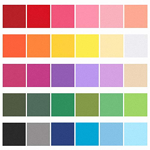 Outuxed 6000pcs 2inch Tissue Paper Squares, 30 Assorted Colors for Arts Craft DIY Scrapbooking Scrunch Art