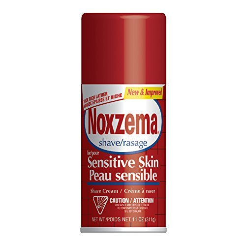 Noxzema Medicated Shave Cream for Extra Sensitive Skin - 11 Oz (Pack of 2)
