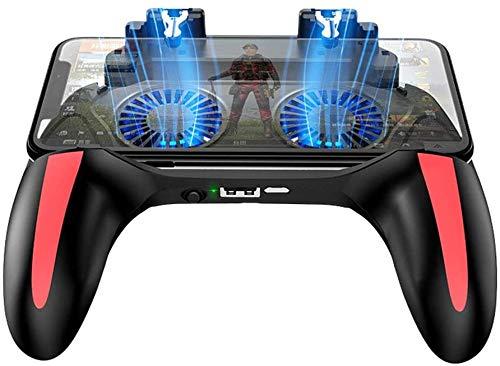 AZUOYI Gamepad Controller Pubg Doble Ventilador Enfriador De 5000 Mah El Powerbank Controlador De Juego Android Joystick Mobile Game Pad