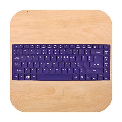 Keyboard For Acer R7 571G E1 472G E1 422G E1 432G E1 410G V5 452G V5 431 E5 471G E5 421G V3 772 G Nv47 Nv49 Silicone Keyboard Skin Cover-Allpurple-