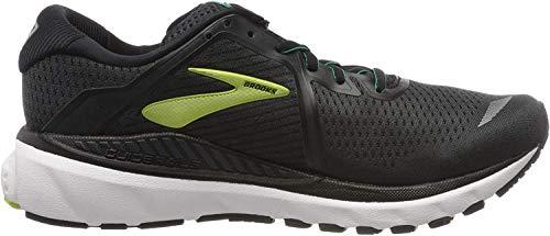 Brooks Men's Adrenaline GTS 20, Black/Lime, 13 D US