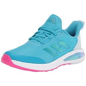 adidas Fortarun Running Shoe, Signal Cyan/Pink/White, 5.5 US Unisex Little Kid