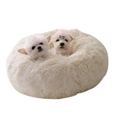 WSJF Lit Mou de Chat de Chat d'animal familier de Chat de Chien de Chat calmant Le lit, nid Rond Non Glissant inférieur Chaud Doux en Peluche Confortable for Dormir (Couleur : C, Size : 50)