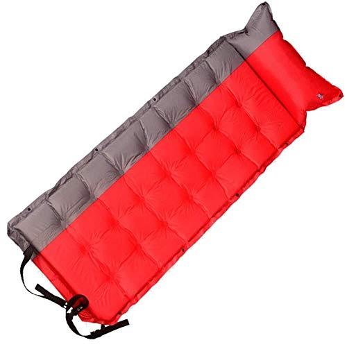 Saco de dormir de camping Bolsa automática colchón inflable for dormir con una almohada de gas, 192 X 64 cm ligero portátil carpa colchón de la cama de aire, color: Azul Gris ( Color : Red Gray )
