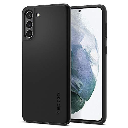 Spigen Cover Thin Fit Compatibile con Samsung Galaxy S21 5G - Nero