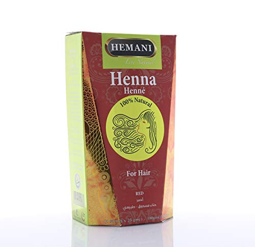 Hemani Red Henna Hair Color 100% Natural PPD Free I Ammonia Free I 100 Grams (4 Sachet of 25g each) I Henna for Hair I Natural I Chemical Free