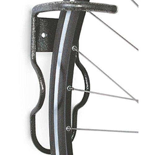 CYCLUS Fahrrad-Wandhalter, zum Einhängen am Laufrad, schwarz