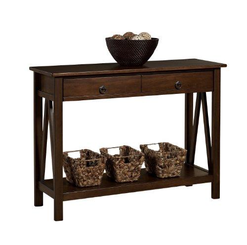 "Linon Home Dcor Console Table, 42.01""w x 13.98""d x 30.71""h, Antique Tobacco"