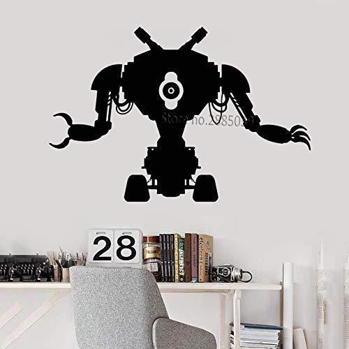 yaoxingfu Robot clásico Juguete Calcomanía de Pared Máquina Ingeniería Electrónica Mecánica Etiqueta de Vinilo Decoración de Pared única Arte Juego Sala de Juegos Color de la Tarjeta M 83cm x 56cm