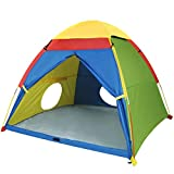 "MountRhino Kids Play Tent & Playhouse,60""x60""x47"" Kids Pop Up Tent, Children Camping Playhouse, Indoor/Outdoor Children Playhouse for Boys Girls, Large Space Kids Ttents with Rainfly(Large Space)"