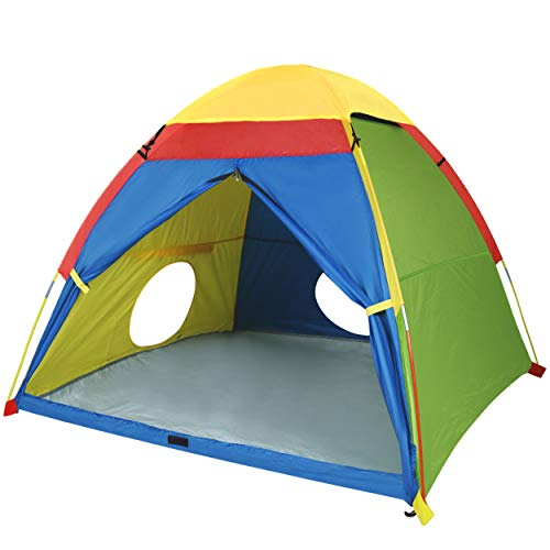 """MountRhino Kids Play Tent & Playhouse,60""""x60""""x47"""" Kids Pop Up Tent, Children Camping Playhouse, Indoor/Outdoor Children Playhouse for Boys Girls, Large Space Kids Ttents with Rainfly(Large Space)"""