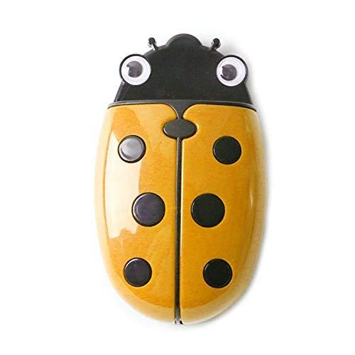 hongruida Magnetische Aufbewahrungsbox für Kühlschrank, Motiv: niedliche Marienkäfer (Farbe: gelb)