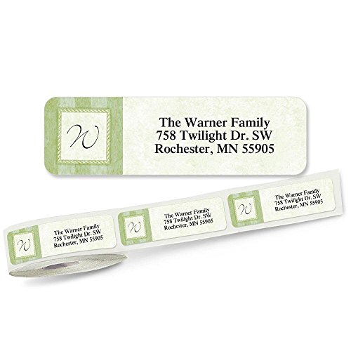 Tailored Elegance Designer Rolled Address Labels with Clear Dispenser by Colorful Images Roll of 250