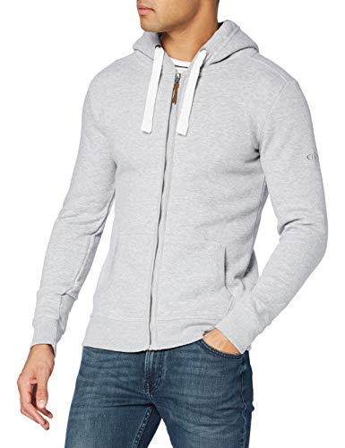 Eight2Nine Herren Fleece-Jacke, Grau (grey melange standard), M