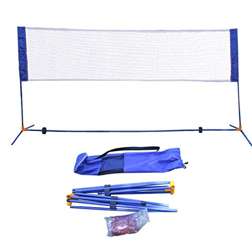 Portable Height Adjustable Badminton Volleyball Tennis Net Set Multi-Purpose Sports Equipment with Poles Stand and Carry Bag for Kids Adult Outdoor Exercise 3m/10ft
