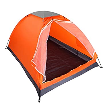 yodo Upgraded Lightweight 2 Person Camping Backpacking Tent With Carry Bag, Orange