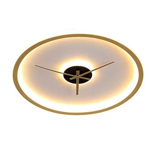 QJUZO Lámpara de Techo Dormitorio Regulable Con Control Remoto, 27W Luz de Techo LED Moderna Para Sala de Estar, Niños, Cocina, 2400LM, Lámpara de Dormitorio Redondo Con Diseño de Reloj, 3000K-6000K