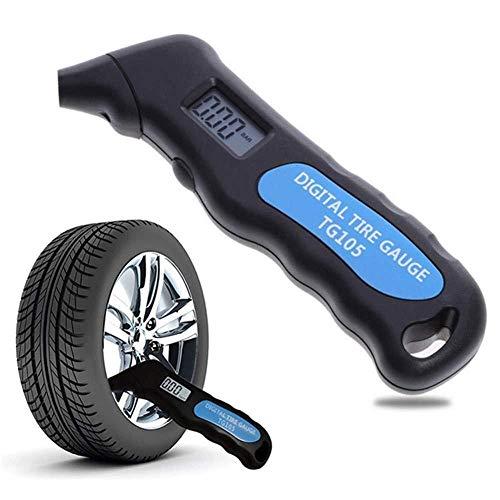 Haoweiwei HWW-DDJQD, 1pc TG105 Digital del neumático del Coche de Aire del neumático calibrador de presión del Metro del LCD Manómetro Barómetros Tester for el Carro del Coche Motocicleta de la Bici