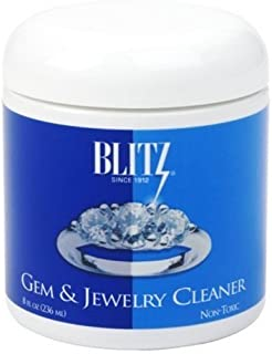 Blitz 651 Gem & Jewelry Cleaner with Basket & Brush for Fine Jewelry, 8 Ounces, 1-Pack
