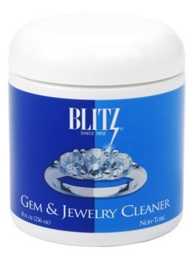 Blitz 651 Gem & Jewelry Cleaner with Basket & Brush for Fine Jewelry, 8 Ounces, 2-Pack