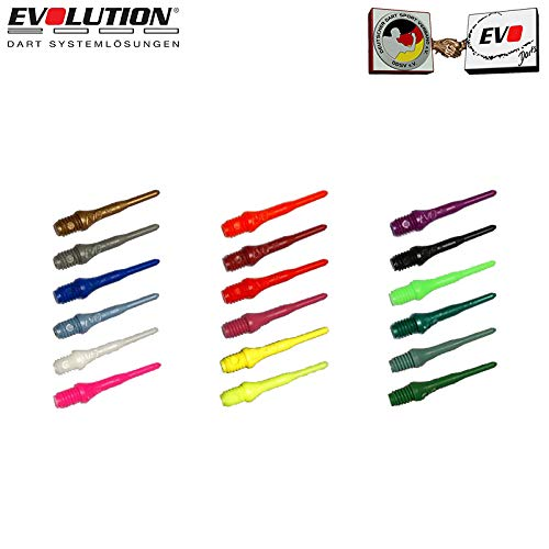 Evolution Original EVO Dartspitzen 2BA Long EVO Points (100 Stück, Schwarz)