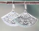 Fan Earrings, Sterling Silver and Hypoallergenic Stainless Steel Hooks or Leverbacks Available