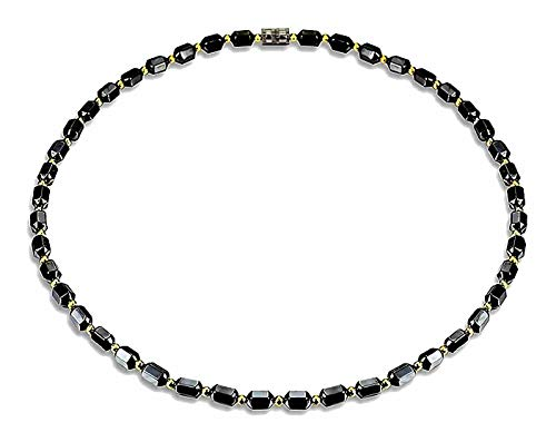 [ZIG's] 45,50,55cm Sexyな磁気ネックレス〜魅惑の輝 高級感 ヘマタイト パワーストーン Unisex チョーカー (tc11) (45)