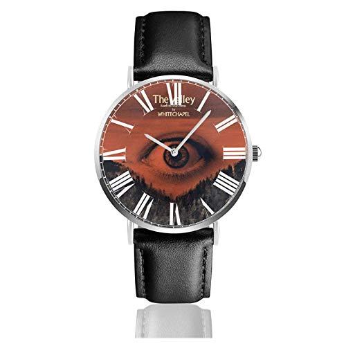 Reloj de Pulsera Whitechapel Durable PU Correa de Cuero Relojes de Negocios de Cuarzo Reloj de Pulsera Informal Unisex