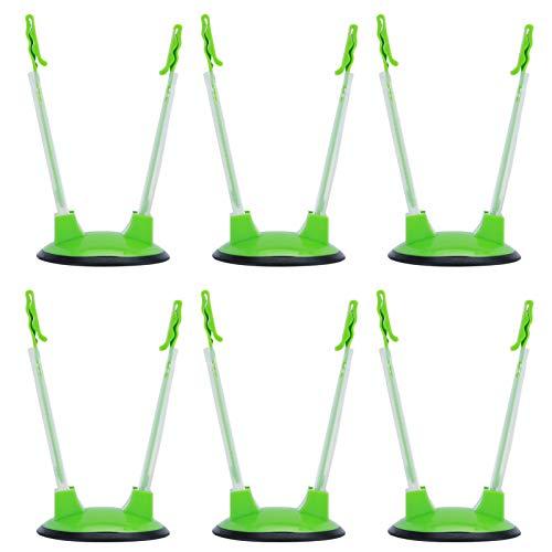 Soporte de clip para bolsa de comida verde de 6 piezas Soporte para bolsa de manos libres para accesorios de cocina en casa