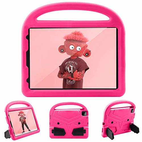 Children Tablet protective Case Cover All-inclusive Handle cartoon shell For Apple iPad Pro 11' inch 2nd Generation 2020 With pen slot Stand (Pink)