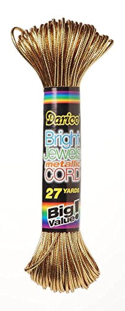 Darice Big Value Bright Jewel Metallic Cord, 27-Yard, Gold