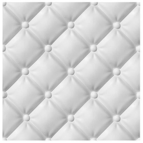 3D Wandpaneele Sparpaket - effektvolle Wandgestaltung mit detaillierten Polystyrolplatten, EPS deutliche Musterung, leicht und stabil - 6,48qm 60x60cm Piko