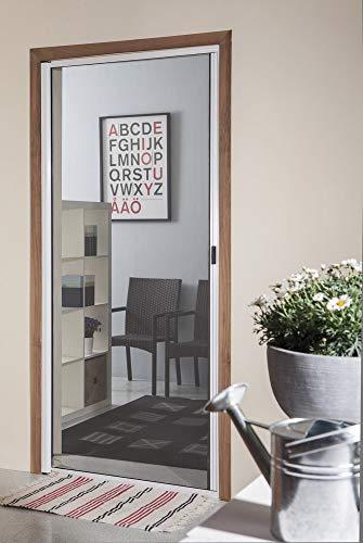 VERDELOOK Zanzariera a Rullo Orizzontale con Telaio in Alluminio per Porte, 120x240 cm, Bronzo