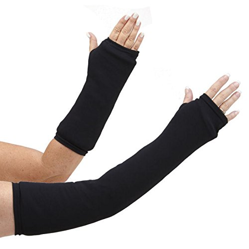 """CastCoverz! Designer Arm Cast Cover - Black - Large Long: 23"""" Length X 16"""" Circumference - Removable and Washable - Made in USA"""