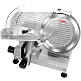 Barton 12' Blade Commercial Stainless Steel Semi-Automatic Meat Slicer Electric Deli Food Slicer Veggies Cutter Premium Built-in Sharpener 320W