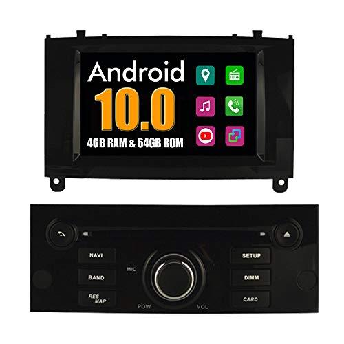 RoverOne Sistema Android Autoradio para Peugeot 407 2004-2010 con Multimedia DVD Estéreo GPS Navegación Radio Bluetooth USB Mirror Link