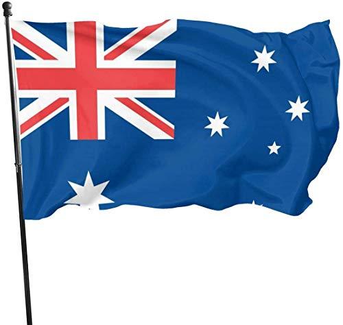 YRTGF Garten Flagge Australien Flagge Outdoor Banner 3x5 Fuß US Polyester Flagge UV Fade Resistant dekorative Zäune/Garten/Terrasse/Rasen