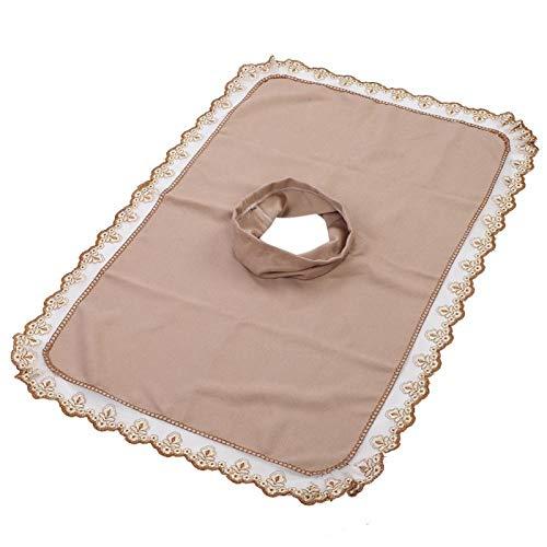 50 * 80 mesa de masaje cabeza, abrigo y cuidado de las pezuñas cepillos hoja de cubierta con agujero belleza spa cabeza de cama toalla masaje colchón cara acostada [ligeramente bronceada]