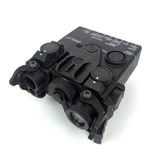MILQUEST WADSN(DBAL-A2 PEQ15Aタイプ)【エイミングデバイス LEDフラッシュライト搭載モデル】(20mmレール対応 樹脂製) (ブラック)