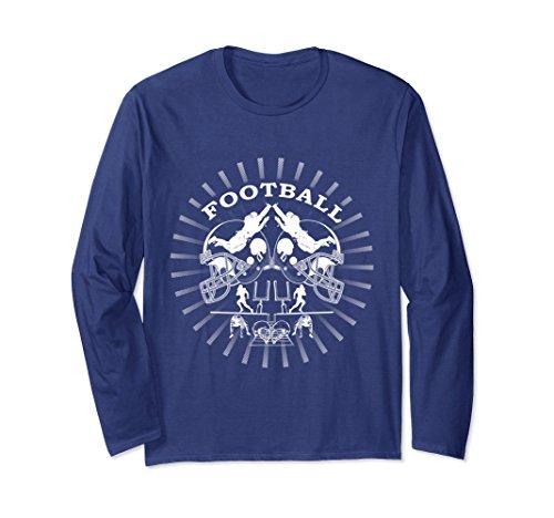 Unisex American Football Sports Helmet T-Shirt Football Player Gift Medium Navy