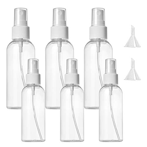 Sprühflasche, Sprühflasche klein, Sprühflasche Transparente Leer, Transparente Sprühflaschen Mist Wiederverwendbare, Tragbares Reiseflaschen Set