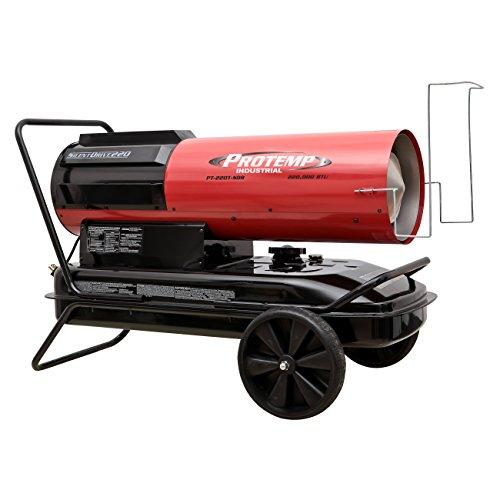 Pro-Temp PT-220T-SDR Silent Drive Kerosene/Diesel Forced Air Heater with Thermostat, 220,000 BTU